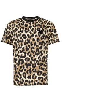 Top man leopard print ringer t shirt